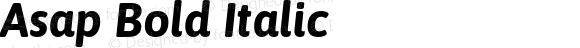 Asap Bold Italic