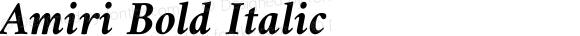 Amiri Bold Italic