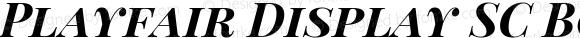 Playfair Display SC Bold Italic