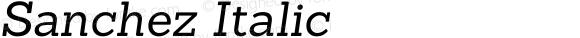 Sanchez Italic