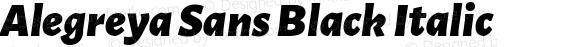 Alegreya Sans Black Italic