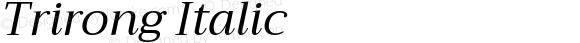 Trirong Italic