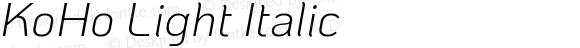 KoHo Light Italic