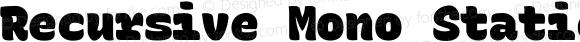 Recursive Mono Static Beta 1.020 Casual Black