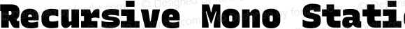 Recursive Mono Static Beta 1.020 Linear Black