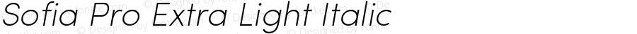 Sofia Pro ExtraLight Italic