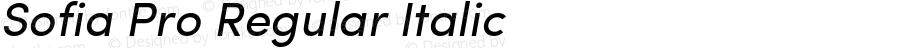 Sofia Pro Regular Italic