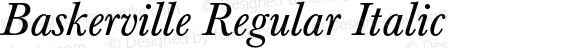 Baskerville Regular Italic