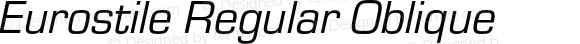 Eurostile Regular Oblique