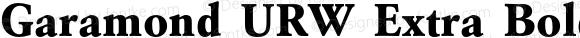 Garamond URW Extra Bold