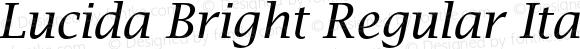 Lucida Bright Regular Italic