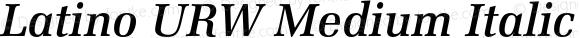 Latino URW Medium Italic