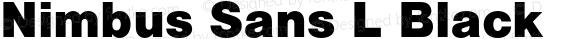 Nimbus Sans L Black