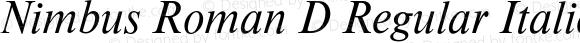 Nimbus Roman D Regular Italic