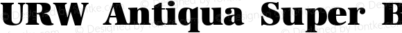 URW Antiqua Super Bold