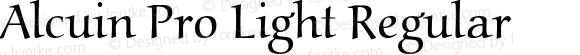 Alcuin Pro Light Regular