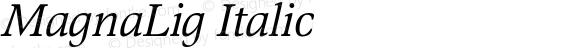 MagnaLig Italic
