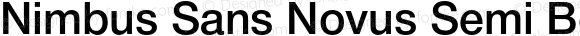 Nimbus Sans Novus Semi Bold