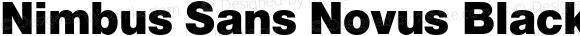 Nimbus Sans Novus Black