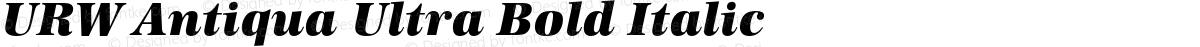 URW Antiqua Ultra Bold Italic