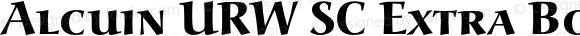 Alcuin URW SC Extra Bold