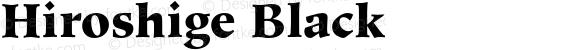 Hiroshige Black