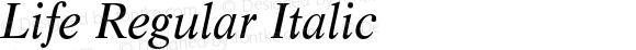 Life Regular Italic