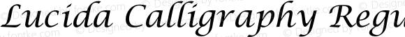 Lucida Calligraphy Regular Italic