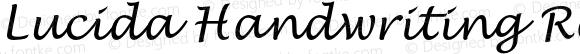 Lucida Handwriting Regular Italic