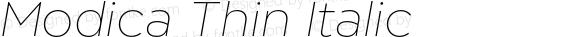 Modica Thin Italic