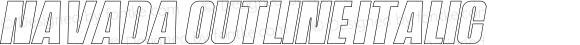 Navada Outline Italic