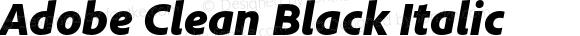 Adobe Clean Black Italic