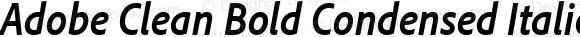 Adobe Clean Bold Condensed Italic