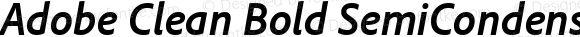 Adobe Clean Bold SemiCondensed Italic