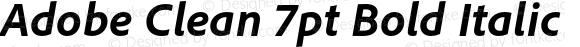 Adobe Clean 7pt Bold Italic