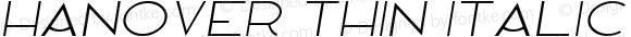 Hanover Thin Italic