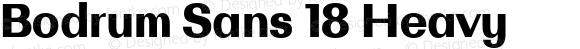 Bodrum Sans 18 Heavy