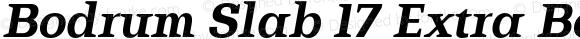 Bodrum Slab 17 Extra Bold Italic
