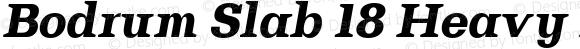 Bodrum Slab 18 Heavy Italic