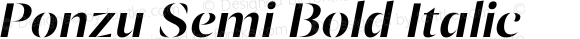 Ponzu Semi Bold Italic