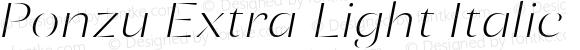 Ponzu Extra Light Italic