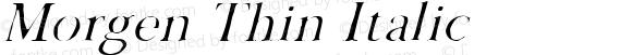 Morgen Thin Italic