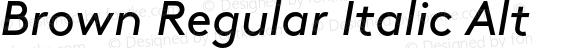 Brown Regular Italic Alt