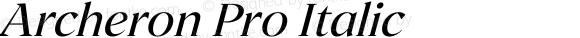 Archeron Pro Regular italic
