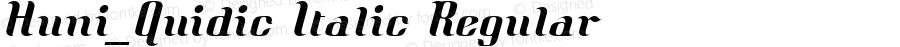 Huni_Quidic Italic Regular 1997.05.31