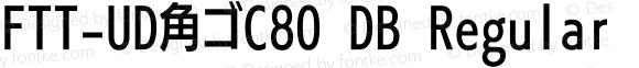 FTT-UD角ゴC80 DB