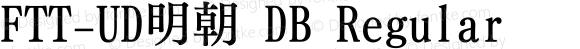 FTT-UD明朝 DB