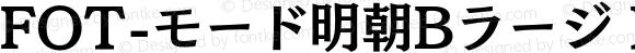 FOT-モード明朝Bラージ Pro