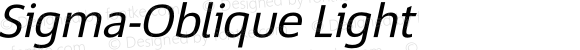 Sigma-Oblique