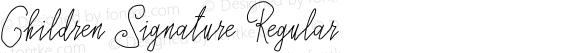 Children Signature